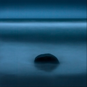 blue ocean sea rocks photograph